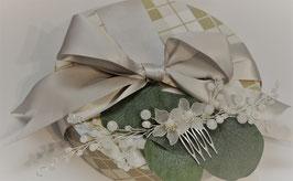 Haarschmuck Twin-Flower für Braut oder Trauzeugin
