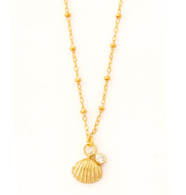 Shell Zirconia Necklace