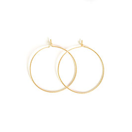 sparkle thin hoop earrings gold large