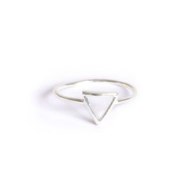 triangle ring silver