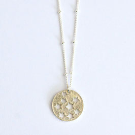Long Star Amulet Necklace Silver