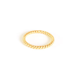 twisted ring gold