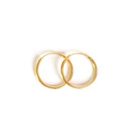 solid hoop earrings gold small