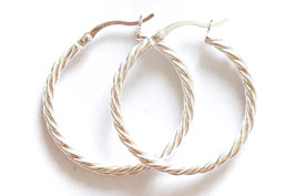 soli twisted hoops silver