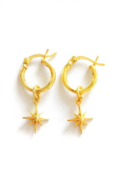 Small North Star Earrings gold