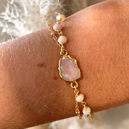 Pearled Rhodochrosit gold