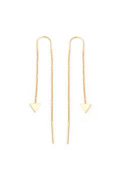 fine chain earrings with arrow