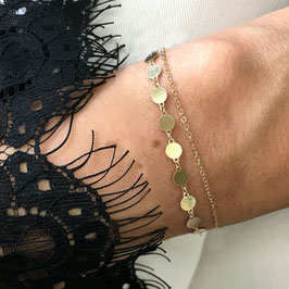 DOUBLE SEQUIN BRACELET GOLD