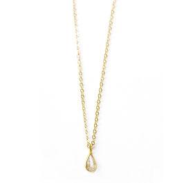 teardrop necklace gold