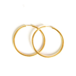 solid hoop earrings gold midi