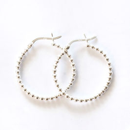 hoop dot earrings silver