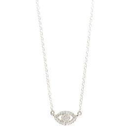 eye zirconia necklace silver