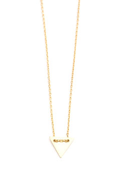 mini triangle necklace gold