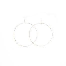 sparkle thin hoop earrings silver midi