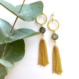 statement earrings labradorite