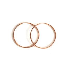 solid hoop earrings rosé gold midi
