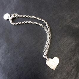 big heart bracelet silver