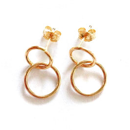 mini double hoops gold