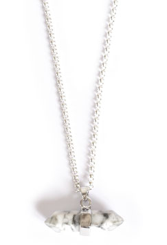 white howlite collier silver