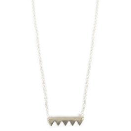 zig zag necklace silver