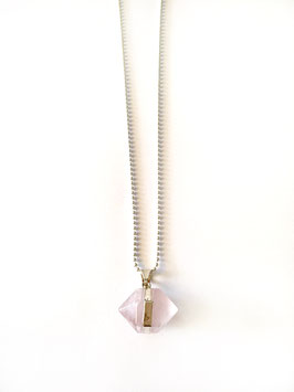 rosequarz necklace silver
