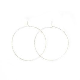 sparkle thin hoop earrings silver large