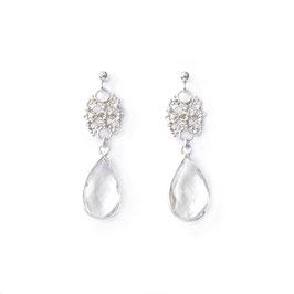 crystal drops silver