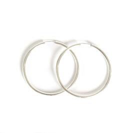 solid hoop earrings silver large