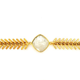 FISH bone Moonstone Gold