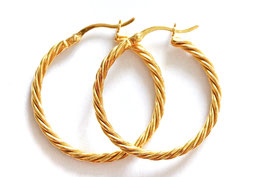 soli twisted hoops gold