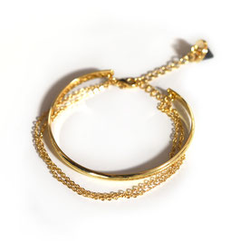 double chain cuff gold