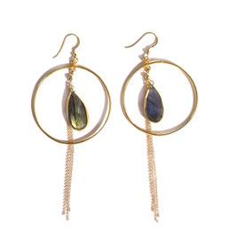 hoop labradorite earrings gold
