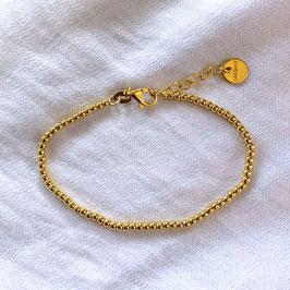 gold pearled bracelet
