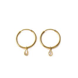 hoops zirconia gold