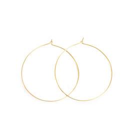 plain thin hoop earrings gold large