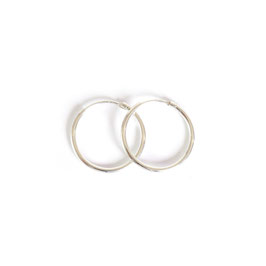 solid hoop earrings silver small