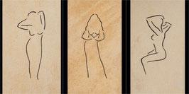 fotodruck leinwand signiert trilogie ´donne´