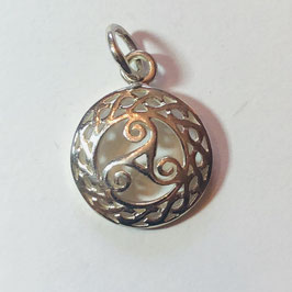 Keltisches Trikele klein Anhänger Silber 925