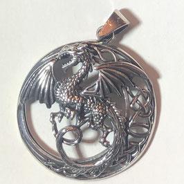 Drachen Anhänger Silber 925 B