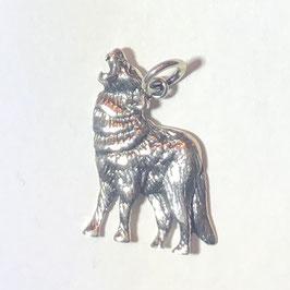 Heulender Wolf Anhänger Silber 925