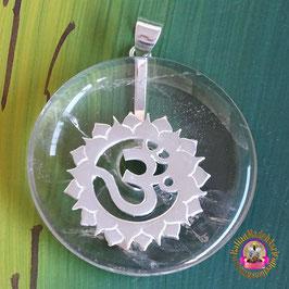 Erzengel Metatron Hüter des göttlichen Lichtes Donut Bergkristall 40 mm und Donuthalter aus 925er Silber.
