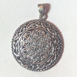 Keltisches Blume des Lebens Anhänger Silber 925