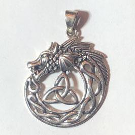Drachen Anhänger Silber 925 A