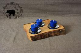 Holz Design Kerzenständer aus hellem Nussbaum