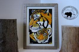 Tigermutter mit ihrem Jungen