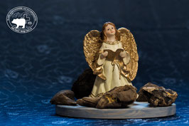 Engeldeko - grosse goldene Engelsflügel  Engel mit Buch 2