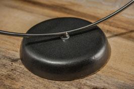 Chromstahlständer mit Keramikfuss Hängevorrichtung für Glaskugeln