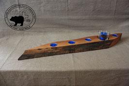 Holz Design Kerzenständer aus dunklem Nussbaumholz