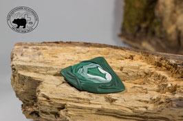 Lederbrosche Grün - Mintgrün