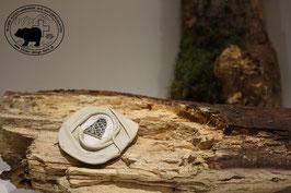 Lederbrosche Cremeweiss-Weiss
